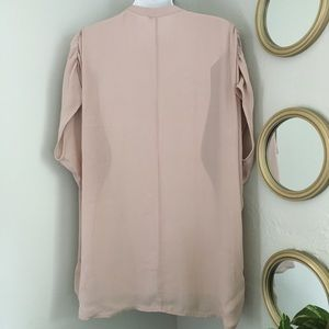 Vince Tops - Vince 100% Silk V-Neck Pleat Front Blouse
